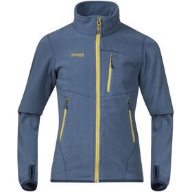 Bergans Runde Jacket Youth Steel Blue/Yellowgreen/Dark Steel Blue
